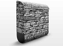 Stonewall 39x46x13cm Briefkasten, Briefkästen, Design, Edelstahl, Brief Kasten, Brief Kästen, Wand, Mauer, Steine, Ziegel, Felsen, Briefkasten, Standbriefkasten