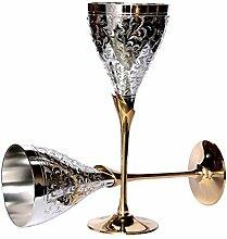 StonKraft - graviert versilbert pure messing premium becher champagner flutes coupes weinglas se