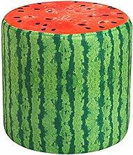 Stools Fruit Schuhbank Home Couchtisch Hocker Kinderhocker Multifunktions-Hocker/Stoff Obst Hocker/Bett Hocker niedrigen Hocker/Kreative Bank/Wohnzimmer Sofa Hocker/28 * 28cm (Farbe : A)