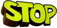 Stop - Comic Türstopper in grün - Türpuffer