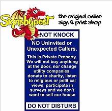 Stop unerwünschte Anrufer Schild 9142A