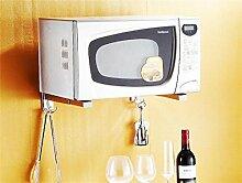 storage rack Edelstahl-Küche Mikrowelle Regal Halterung Wandmikrowellenherd-Rack Cabinet shelf