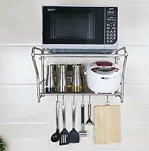 storage rack Edelstahl-Küche Mikrowellenherd Racks / Wand-Ofen Regal / Topf Rack / Küche Rack Cabinet shelf ( Farbe : 1# , größe : M )