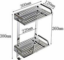 storage rack Edelstahl-Küche-Regal / Storage Rack / Spice Rack / Werkzeughalter Cabinet shelf ( Farbe : 5# )