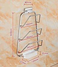 storage rack EdelstahlKüchen Regal, Küchenregal und Pan Rack / Herd Regal Cabinet shelf ( Farbe : 2# )