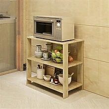 storage rack Es kann Küche Microwelle Ofen Regal Küche Topf Rack Mehrere Ebenen Incorporated Landung Ofen Storage Rack Cabinet shelf ( Farbe : #2 , größe : A )