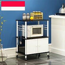 storage rack Kreative Küche Regal Mikrowellenofen Regal Multi-Regal Multifunktions-Regal Regal Regalboden Regal (Zweite Etage) Cabinet shelf ( Farbe : A , größe : 1 )
