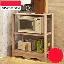 storage rack Küche Regal Heimatlandschaft Regal Incorporated Lagerung Rack Küche Zubehör Drei Schichten Microwave Ofen Regal Cabinet shelf ( Farbe : C , größe : #1 )