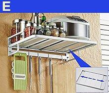 storage rack Küche Regal Mikrowelle Ofen Rack Ofen Doppelschicht Multifunktionsraum Aluminium Wandregal Regale Cabinet shelf ( Farbe : 5* )