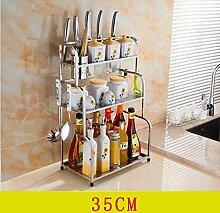storage rack Küche Regal / Regal / 304 Edelstahl Gewürz Stuffer / Regal Cabinet shelf ( Farbe : 2# )