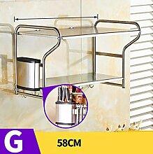 storage rack Küchenregal Wandhalterung, Küchenutensilien Regal, Regalboden Cabinet shelf ( Farbe : 7* )