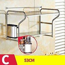 storage rack Küchenregal Wandhalterung, Küchenutensilien Regal, Regalboden Cabinet shelf ( Farbe : 3* )