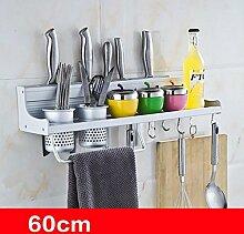 storage rack Küchenregal Wandmontage, Küchenutensilien Regal, Space Aluminium Multifunktions Regal Cabinet shelf ( Farbe : 6# )