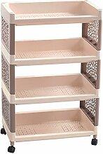 storage rack Multilayer Boden Typ Wohnzimmer Regal Kunststoff Shelf Badezimmer WC Storage Regale Große Kapazität Storage Rack Cabinet shelf ( größe : 3 )