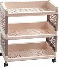 storage rack Multilayer Boden Typ Wohnzimmer Regal Kunststoff Shelf Badezimmer WC Storage Regale Große Kapazität Storage Rack Cabinet shelf ( größe : 2 )
