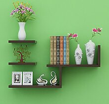 Storage tower Minimalist Home Walnut Color Wandregale Aufbewahrung Bücherregal