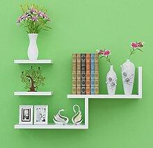 Storage tower Minimalist Home White Wandregale Aufbewahrung Bücherregal