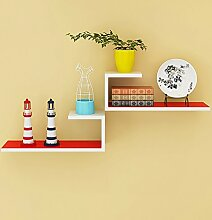 Storage tower Rot Ein Set von 2, Wandregale