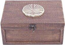 Store Indya - Handgefertigte Teebox aus Holz mit 6