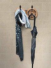 Store Indya, Vintage Holz Kleiderhaken Rack Multipurpose Hut Schal Taschen Handtuch Regenschirm Robe Kleiderbügel Wand mit Haken Home Storage Decor Handmade montier