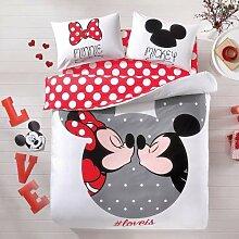 store_turco Mickey & Minnie Mouse Bettwäsche-Set,
