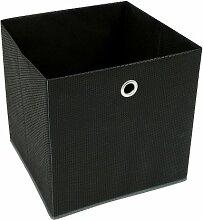Storeasy Kleidersack/Kleiderschutzhülle Sitzwürfel Aufbewahrungsbox, stabiles Design, klassisches Schwarz