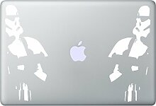 Stormtrooper Aufkleber Macbook Air Pro Sticker Decal Apple Star Wars (Weiss)