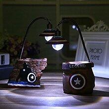 Stownn Cartoon Ornamente Nachtlicht Nachtlicht Lampe Pen Heimtextilien Harz Handwerk Dekoration Ideen, Eine Mauer