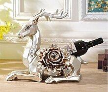 stownn Wein Home Innendekoration europäischen Wein Rack Decor Deko Basteln Hochzeit Geschenke Einzugs Deer Wohnzimmer Dekoration