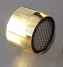 Strahlregler GOLD M22x1 Innengewinde Perlstrahler Mischdüse Perlstrahlregler für Wasserhähne in Gold-Design