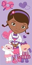 Strand Bade Handtuch Disney Doc McStuffins Baumwolle Lila Rosa Kinder Mädchen 100% Offiziell Großartige Geschenkidee