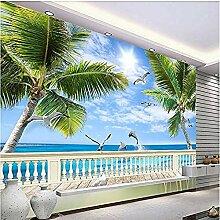 Strand Kokosnussbaum Seedelphin für Wände