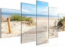 Strand Meer Bild Vlies Leinwandbild 5 Teilig