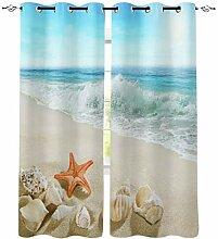 Strand Meer Seesthish Shells Fenster Vorhänge