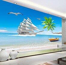 Strand Meerblick 3D Fototapete Für Wohnzimmer