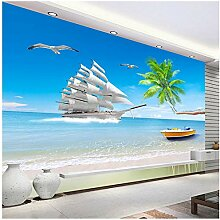 Strand Meerblick Benutzerdefinierte 3D Fototapete