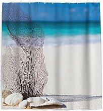 Strand Meeresblick Duschvorhang mit