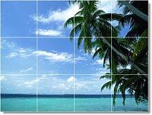 Strand Szene Badezimmer Fliesen Wand B076. 61x 81,3cm mit (12) 8x 8Keramik Fliesen.