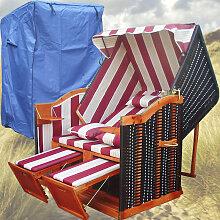 Strandkorb Kaufen # 2-Sitzer # XL # rot-weiss #