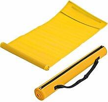 Strandmatte in trendigen Farben mit Tragegurt (gelb)