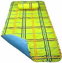 Strandmatte mit Nackenkissen versch. Farben/Muster (grün)