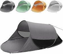 Strandmuschel (Farbwahl) Campingzelt Pop-Up Wurfzelt für 2 Personen ca. 245x145x95cm UV Schutz