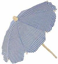 Strandschirm, gestreift, weiss-blau, 42 cm