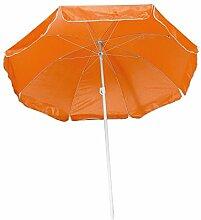 Strandschirm / Sonnenschirm / stufenlos verstellbar / mit Tasche / Farbe: orange