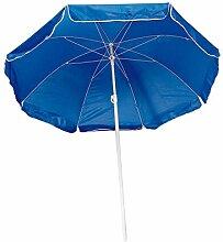 Strandschirm / Sonnenschirm / stufenlos verstellbar / mit Tasche / Farbe: blau