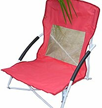 Strandstuhl Campingstuhl Klappstuhl Faltstuhl Gartenstuhl 4 Farben F110 (Rot/Pink)