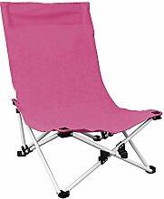 Strandstuhl inkl. Transporttasche 53x53x75cm Campingstuhl klappbar Klappstuhl in 4 Farben, Farbe:Pink