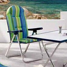 Strandstuhl Nizza mit Kissen Garten Living