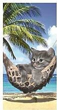 Strandtuch Kätzchen in Hängematte 75x 150cm