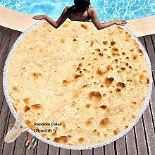 Strandtuch Rund Maiskuchen, Morbuy Runde Sunscreen